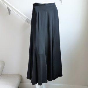 Vintage Liz Claiborne Black Maxi Full Skirt